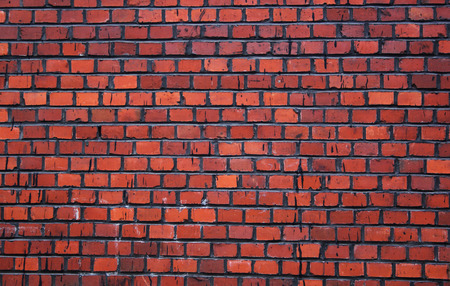 nice wall texture from the red bricks Stock Photo