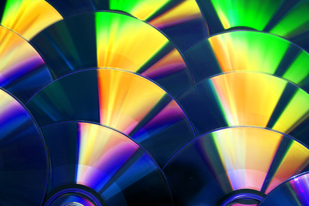 CD and DVD as nice computer  background