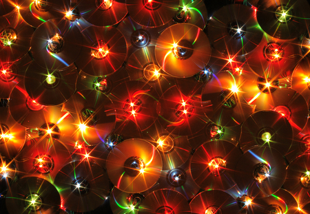 Nice Xmas Background From The Color Lights Stock Photo, Picture And ...
