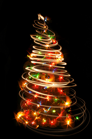 Nice Xmas Tree From The Color Lights Stock Photo, Picture And ...