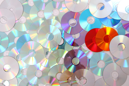 color CD and dvd as nice data background Stock Photo