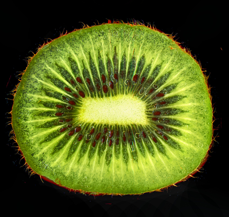 nice detail slice of kiwi as food background Stock Photo
