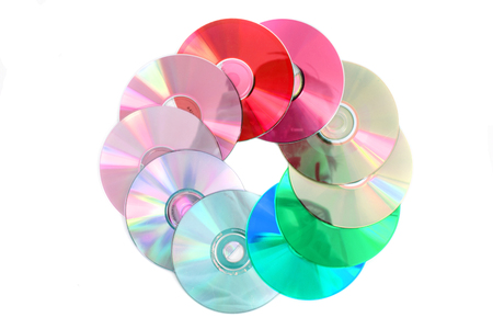 cd and dvd isolated on the white background