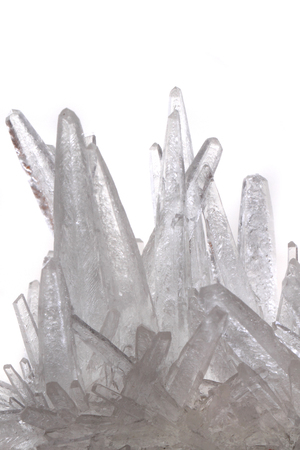 white phosphate crystal isolated on the white background Standard-Bild