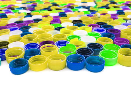 plastic caps as very nice color background