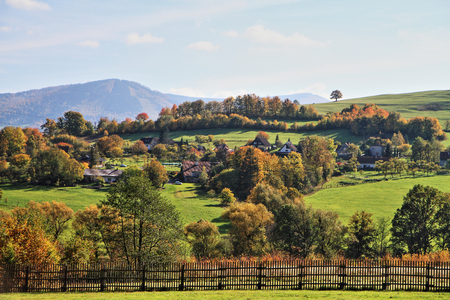 autumn czech and moravian country as nice background