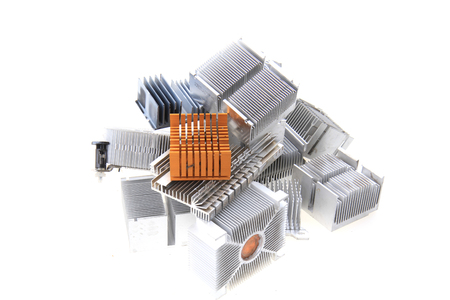 passive cpu coolers isolated on the white background