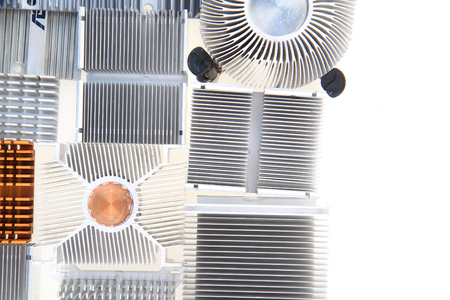 passive cpu coolers as nice technology background