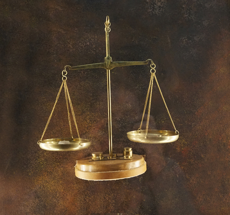 very old golden scales for weighing diamond