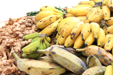 banana fruits from africa as nice food background