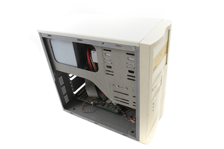 old computer case isolated on the white background 写真素材