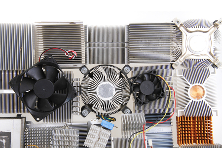 cpu coolers texture as nice technology background 版權商用圖片