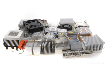 cpu coolers isolated on the white background 版權商用圖片