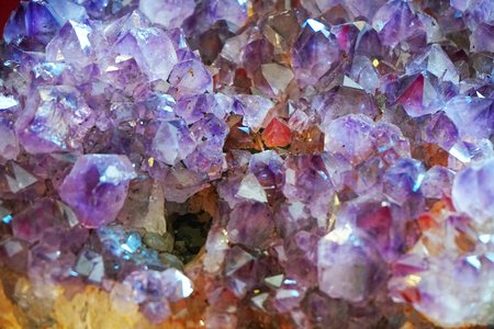 amethyst natural mineral texture as very nice background Foto de archivo