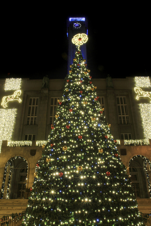 christmas tree in Ostrava city Czech republic