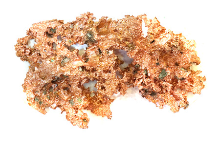 copper mineral isolated on the white background