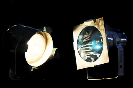 two old reflectors in the dark night
