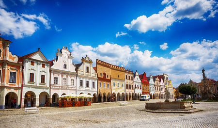 old Telc town houses in Czech republic