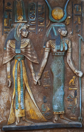 old egyptian hieroglyphics as very nice history background