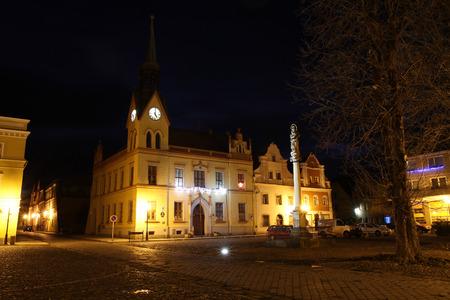 city hall in Vidnava city at czech republic 版權商用圖片