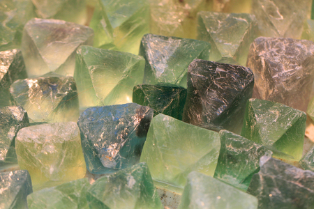 fluorite green crystal texture as nice mineral background