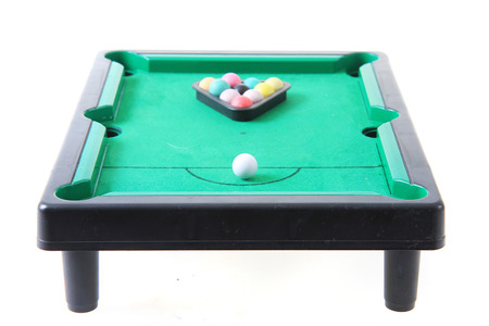 old billiard toy isolated on the white background Archivio Fotografico