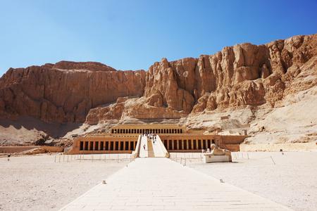 temple of queen Hatsepsut in the Egypt Banco de Imagens
