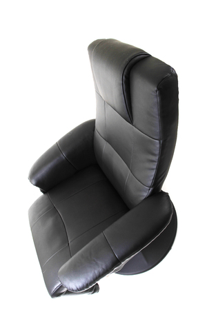 black relaxation chair isolated on the white background 写真素材