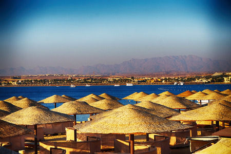 beach in the egypt as very nice background Archivio Fotografico