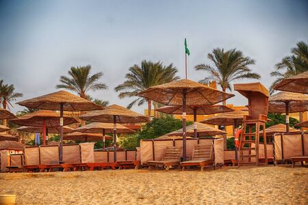 beach in the egypt as very nice background Stockfoto