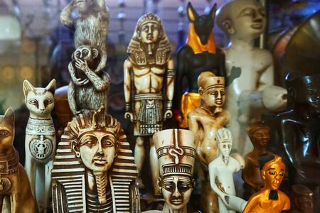 old egyptian souvenirs as very nice background 스톡 콘텐츠