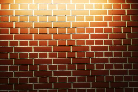 new brick wall with light as very nice background 스톡 콘텐츠