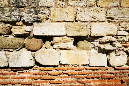 stone wall texture as easy architecture background