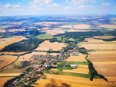 czech landscape from airplane as very nice background
