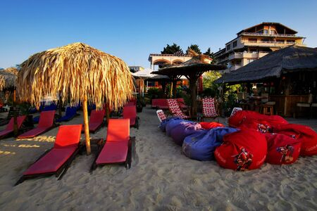Bulgarian beach near Ravda village as very nice background Stock Photo