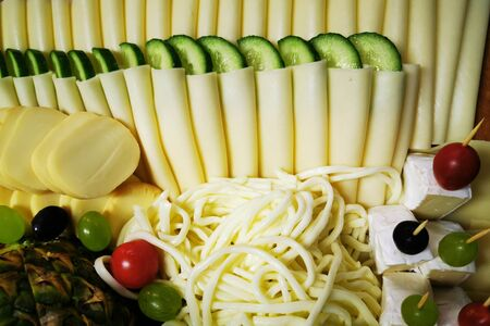cheese collection texture as very nice food background