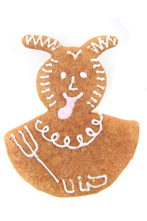 christmas gingerbread isolated on the white background 스톡 콘텐츠