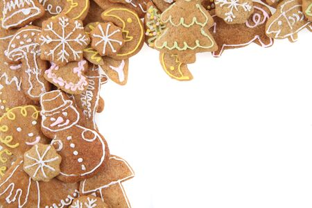 christmas gingerbread as very nice holiday background