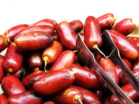 fresh date fruits texture as very nice food background Banco de Imagens