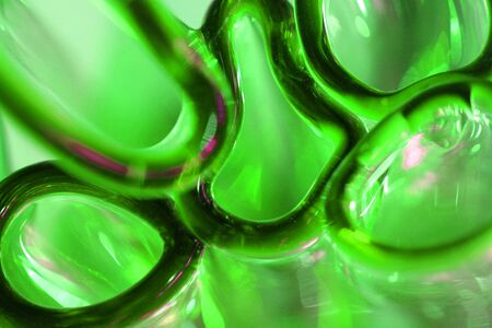abstract green glass texture made from bottles