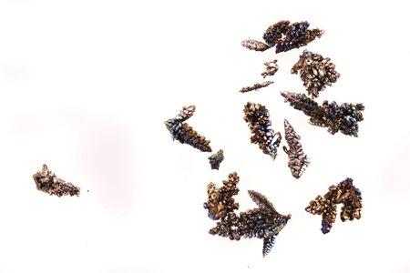 vanadium metal crystal isolated on the white background Фото со стока