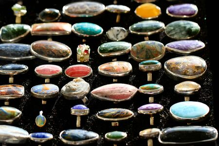 mineral rings collection as very nice background