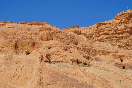 valley of kings in the Egypt with blue sky