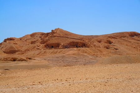 valley of kings in the Egypt with blue sky Stock Photo