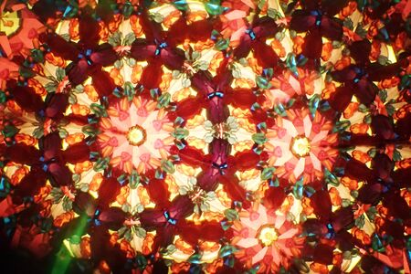 kaleidoscope from color glass as easy texture
