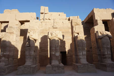 Great Hypostyle Hall and clouds at the Temples of Karnak Egypt Banco de Imagens