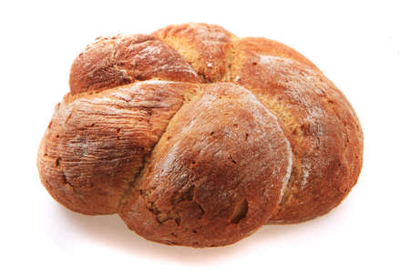 czech fresh bread isolated on the white background