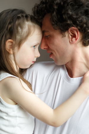Dad with his daughter.