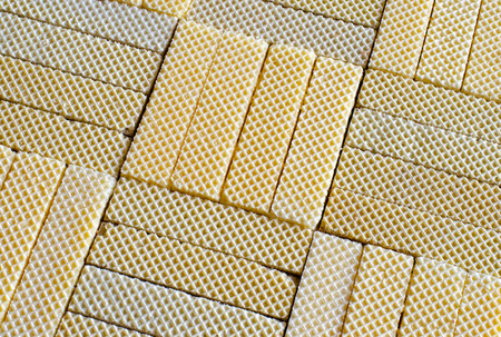 An arrangement of tasty dessert wafers makes a feast for the eyes. 스톡 콘텐츠