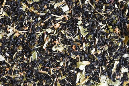 Black tea with herbs from Tatarstan in the Russian Federation. Banco de Imagens